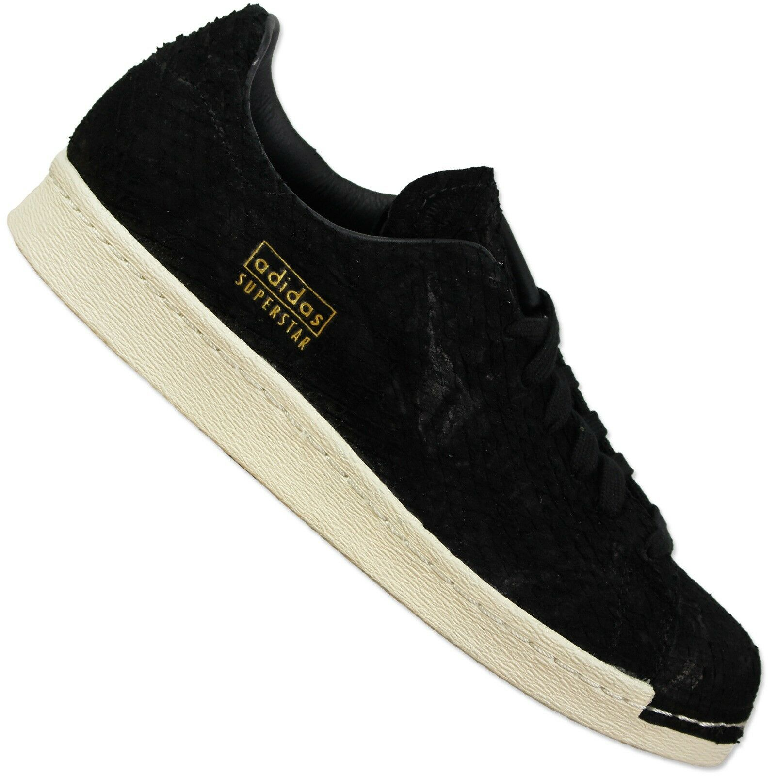 ADIDAS ORIGINALS superstar 80s Clean s82508 cortos señora zapatos negro Black