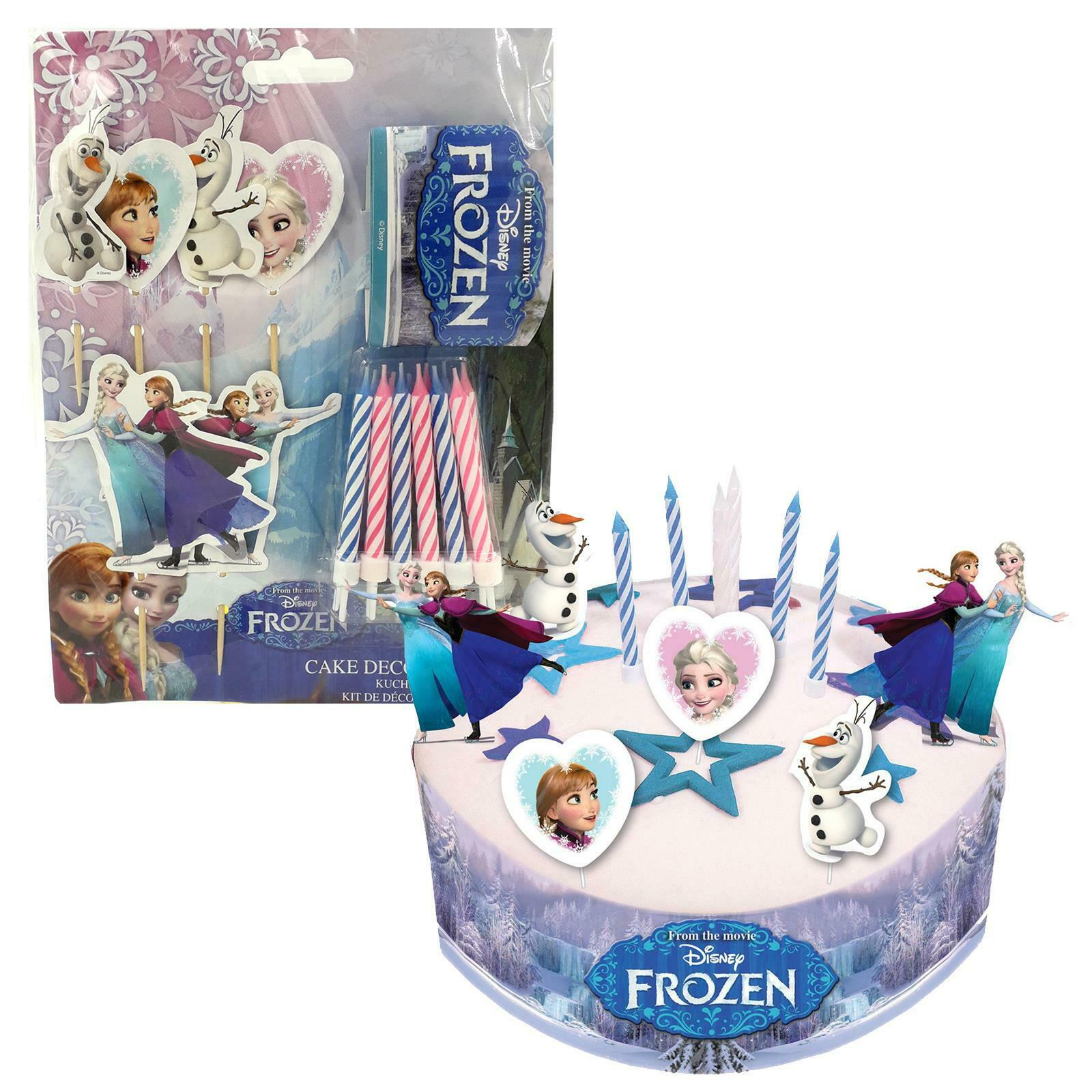 Amazing Official Disneys Frozen Birthday Cake Decorating Kit Candles Elsa Funny Birthday Cards Online Fluifree Goldxyz