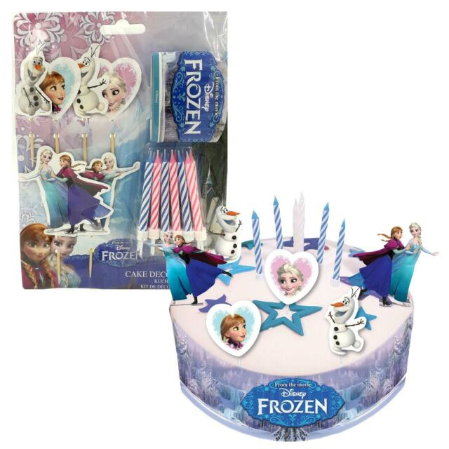 Peachy Official Disneys Frozen Birthday Cake Decorating Kit Candles Elsa Personalised Birthday Cards Paralily Jamesorg