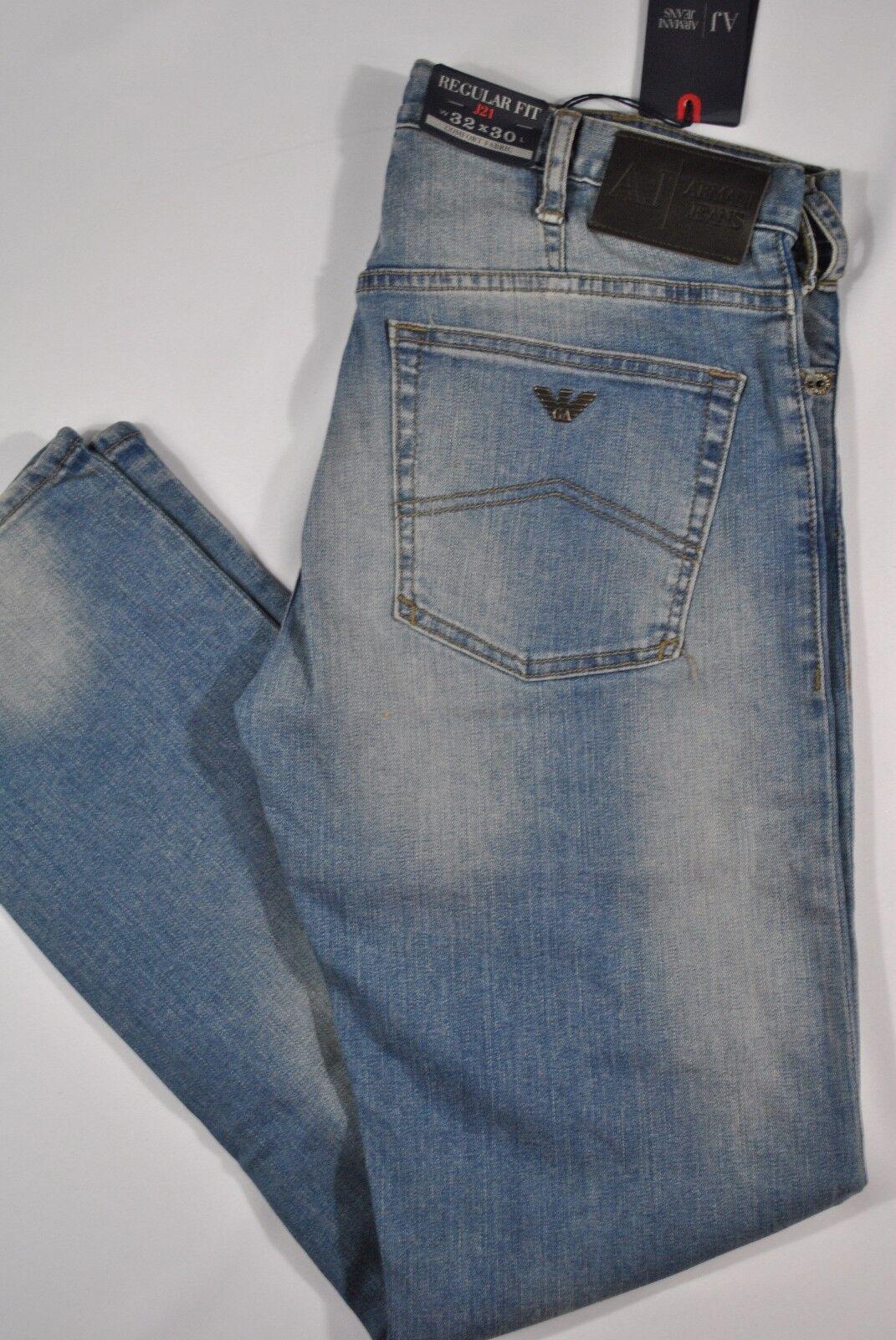 5d500e64 NEW MENS Armani J21 3T Light Wash Straight-Leg jean SIZES Regular-Fit Jeans  nfhxiy9460-Jeans