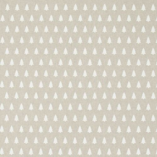 Christmas Tree Silhouettes In Lines 100/% Cotton Linen Look Upholstery Fabric