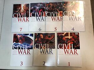 Civil-War-2006-1-2-3-4-5-6-7-1-7-VF-NM-Complete-Set-Marvel