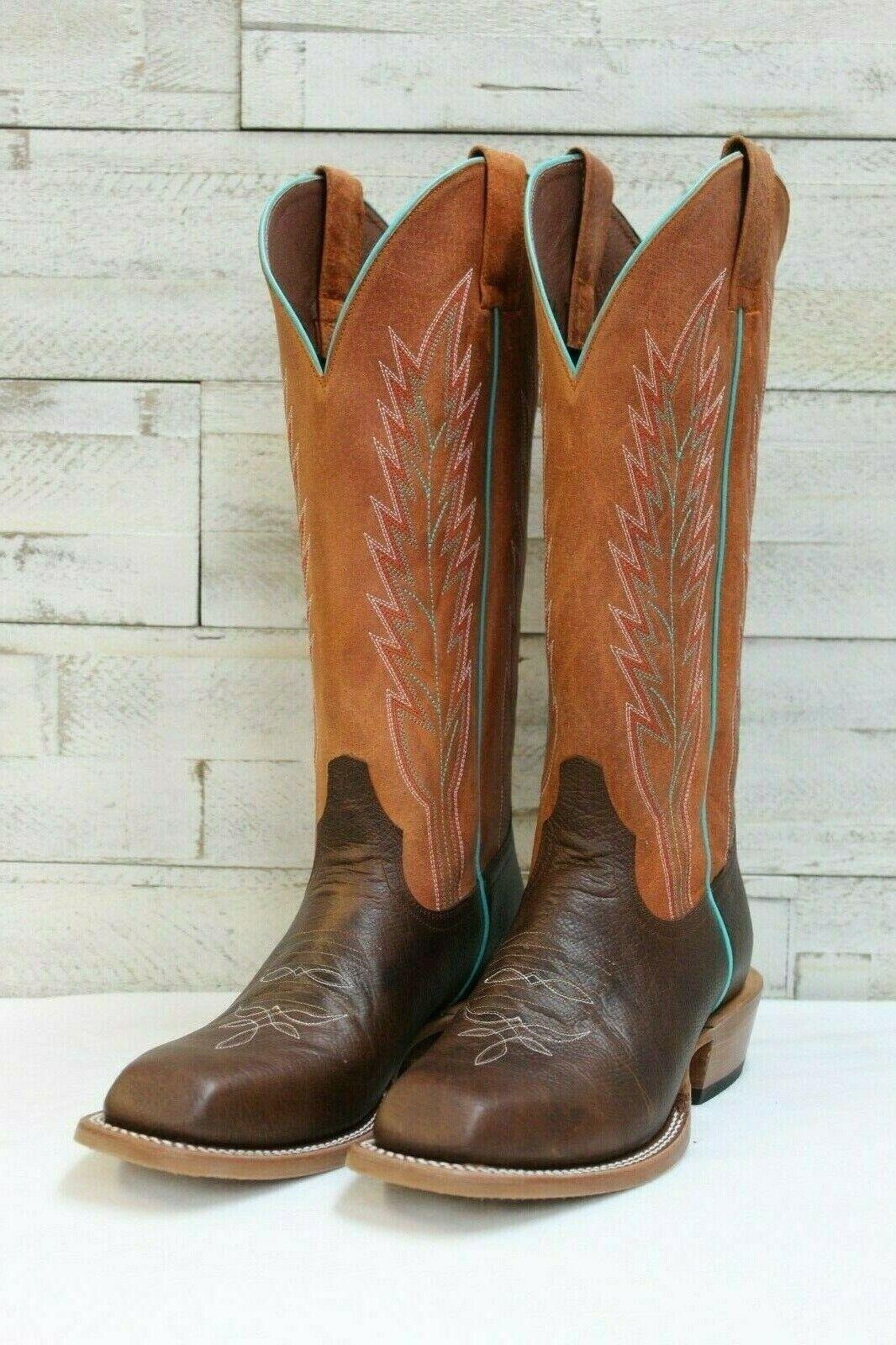 Men's Horsepower by AB Boots, Mocha Sabatoge w orange Sinsation Top, HP 6106