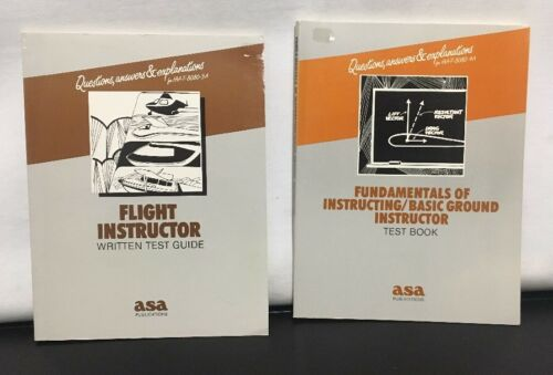 2 Vtg 1986 Asa Flight Instructor Écrit Test Guide Fondamentaux Basique Sol