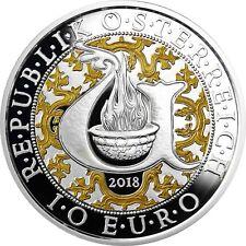Österreich 10 Euro 2018 URIEL DER LICHTENGEL Polierte Platte Silbermünze