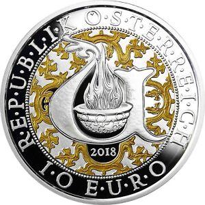 Collection Ici Autriche 10 Euro 2018 Uriel La Lumière Ange Polie Plaque Argent Pièce De Monnaie-afficher Le Titre D'origine