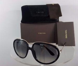 6a56230a6fce4 New Authentic Tom Ford TF281 Sunglasses 01F TF 281 Faye Black Gold ...