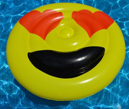 "Extra Large inflatable Heart Eyes Emoji Swimming Pool Float Donut  54/"""