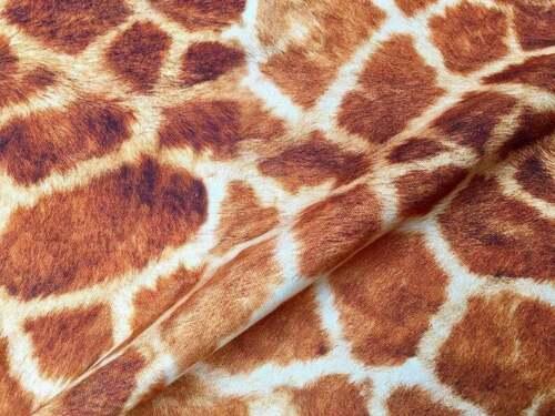 Giraffe Fabric Animal Print Fabric Cotton curtain decor dress DIGITAL 140cm wide