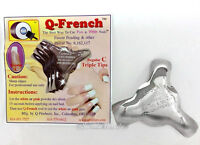Q French - Acrylic Gel Nails Pink & White Cutter Tool -regular C Triple Tips