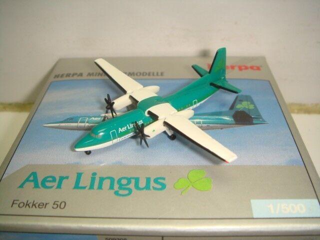 Herpa Wings 500 Aer Aer Aer Lingus Fokker 50 F50  1980s color  1 500 NG 825c63