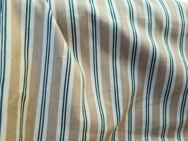Stripe Cotton Canvas Herringbone Home Decor Fabric 54