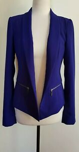 CUE-IN-THE-CITY-Bright-Blue-Jacket-Size-8