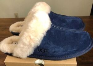 c8efc8ff6b3 UGG SCUFFETTE II SZ 6 5661 (Midnight Blue) SHEEPSKIN SLIPPERS WOMAN ...