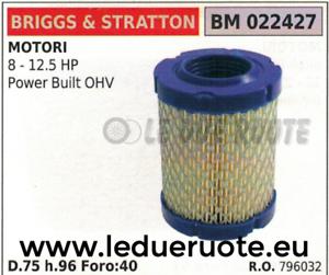 Stratton 5 à CV 796032 Ohv construite filtre de puissance moteur air 12 Briggs éponge 8 nwPTqxwA