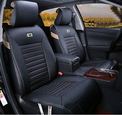 10PCS black Red needlework PU leather car seat cover for Jaguar Jeep Land Rover