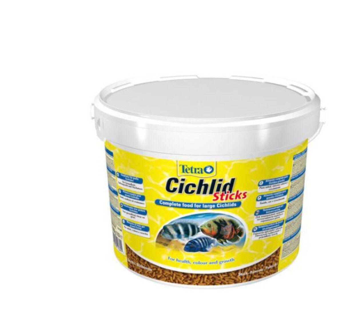 Tetra Cichlid Sticks 10 L. Hauptfutter für alle Cichliden Cichliden Cichliden u.a. große Zierfische e1fdea