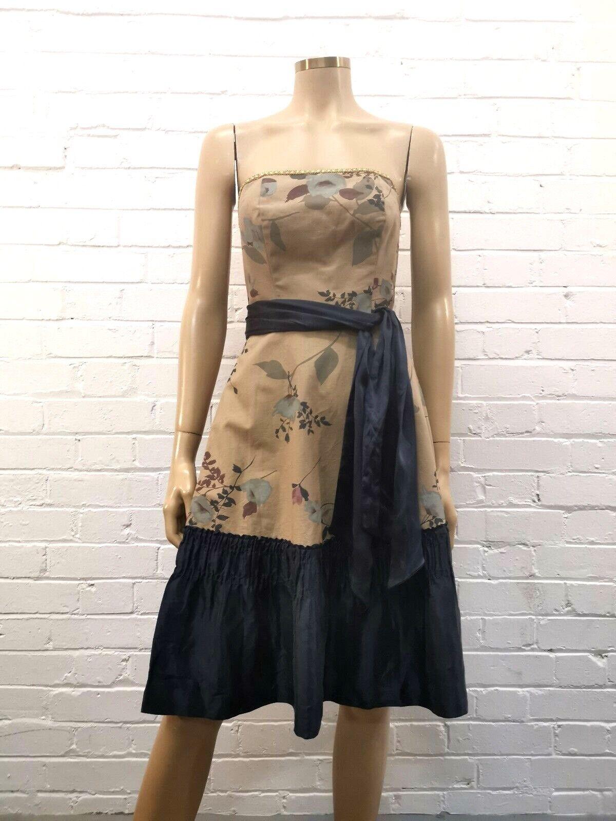 Tabitha Stunning Floral Bustier Dress w Silk Belt Größe 8
