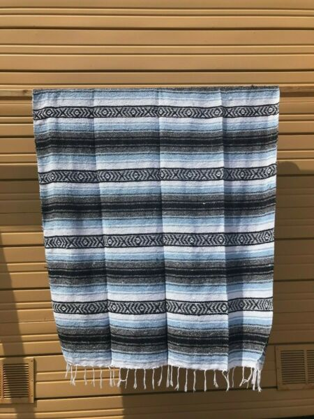 "Constructief New Mexican Falsa Blanket, Throw Stadium Blanket , Yoga 72"" X 52"" Baby Blue Minder Duur"