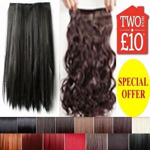Half-Head-Hair-Extension-Curly-Straight-Clip-in-Feel-like-Human-Long-Black-Plum