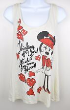 Disney Womens Minnie Mouse Thinking Of You Racer Back Tank Top Size 2XL J-T-P