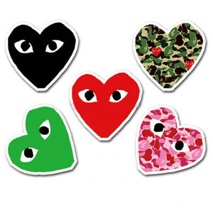 424d71d19ac3 One Set of 5 Comme des Garcons CDG Love Hearts Eyes Vinyl Stickers ...