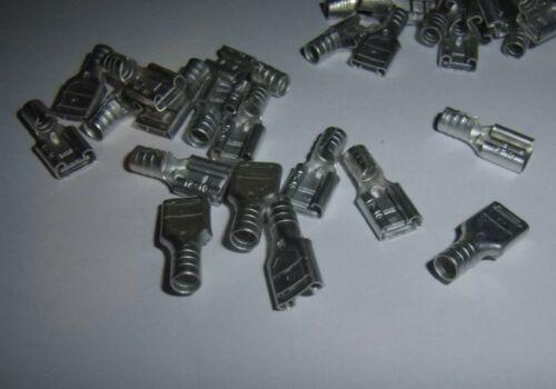 15 12-10 16-14 22-18 Ga AWG Gauge Non-Insulated Female Spade Terminal Connector