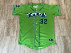 #32 Daytona Tortugas Game Used Worn Green Copa Jersey MLB MILB Reds