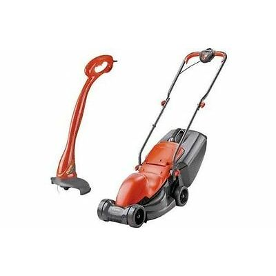 BOTH BRAND NEW FLYMO 900w Easimo 32 Electric Rotary Lawnmower +  230w Mini Trim