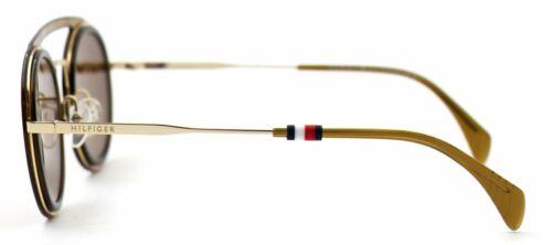 Tommy Hilfiger Damen Herren Sonnenbrille TH1541//S 10A70 47mm Rund gold Etui