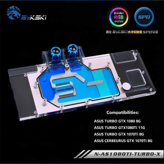 Full-Cover GPU Water Cooling RGB Copper Block For ASUS TURBO GTX 1080  1070Ti 8G