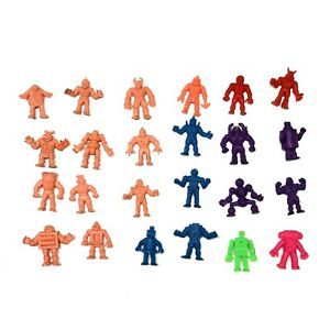 1985-Mattel-Kinnikuman-M-U-S-C-L-E-Muscle-Men-Lot-of-24-figure-Pack-Vintage-B28