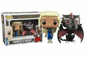 Daenerys-amp-Drogon-metallic-Game-of-Thrones-Funko-POP-Vinyl-New-in-Mint-Box-P-P