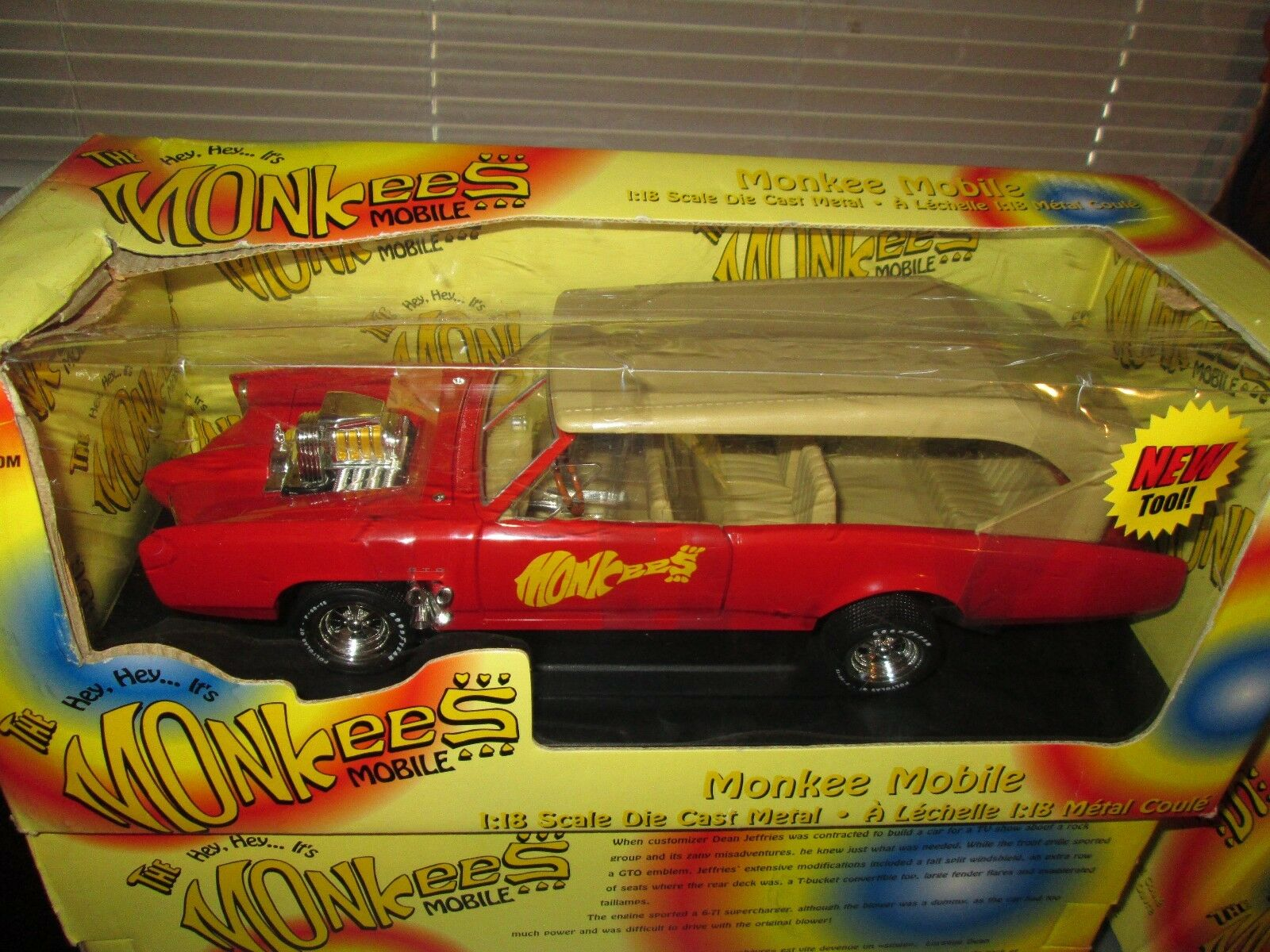 Monkees Mobile American Muscle Gto Pontiac 1 1 1 18 Affen Ertl d07d95