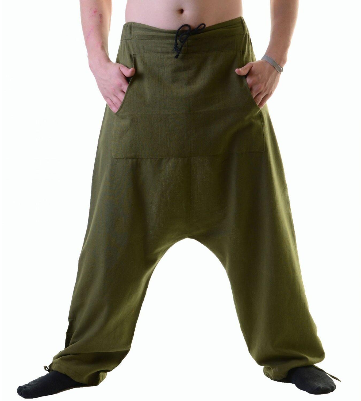 Uomini Uomini Uomini PSY Aladin Pantaloni Hippie Uomo Pantaloni Pantaloni Harem 70640f