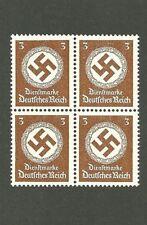 MNH Stamp Block / PF03 1942 Issue / Large Nazi Swastika / Third Reich / MNH