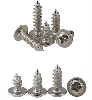 M1.4~M3M4M5 304 stainless steel Cross round head flat tail self tapping Screws