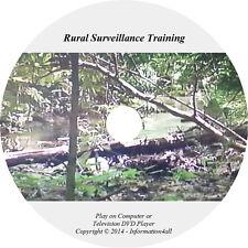 Rural Surveillance Training Film Video DVD Tactics Techniques Guide Camouflage