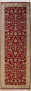Rugstc-3x10-Senneh-Pak-Persian-Red-Runner-Rug-Hand-Knotted-Floral-with-Wool