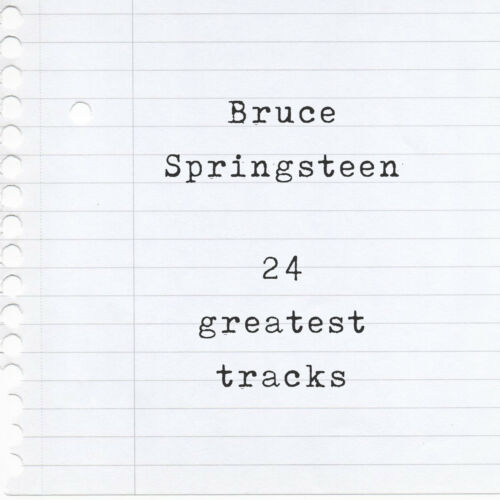 Dancing in the Dark Born to Run Mixtape T-Shirt of his 24 Greatest Hits