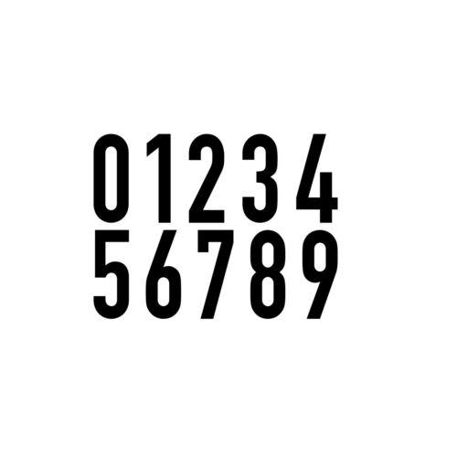 10 Autocollant 4cm Noir Din 1451 Chiffres Numéro N° de Domicile Verkehrsschrift