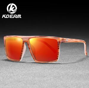 KDEAM Men Sport Polarized Sunglasses Outdoor Driving Fishing Square Glasses New