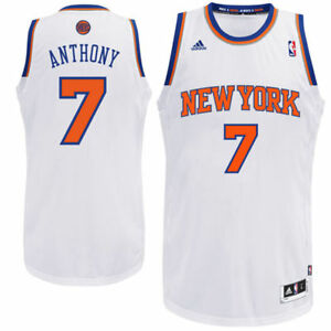 NWT 50  Adidas BOYS New York Knicks Carmelo Anthony White Swingman ... e0c713772