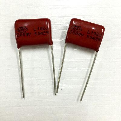 20pcs 1600V 102 J 0.001uf 1nf 1000pf P15 CBB81 CBB metal film capacitor