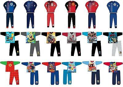 Boys Children Kids Baby Character Football Long Sleeve Pyjamas Pjs set Age 1-12y