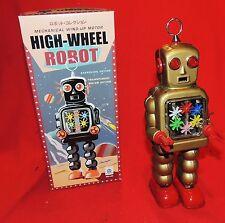 Robot en tole sérigraphiée HIGH-WHEEL ROBOT bronze. Ht 26 cm. Réf. MS 436