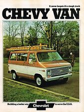1974 Chevy VAN Brochure / Catalog with Color Chart: G10,G20,G30,110,125,ChevyVan