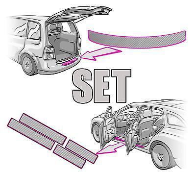 Opel Adam Ladekantenschutz 3D CARBON SILBER
