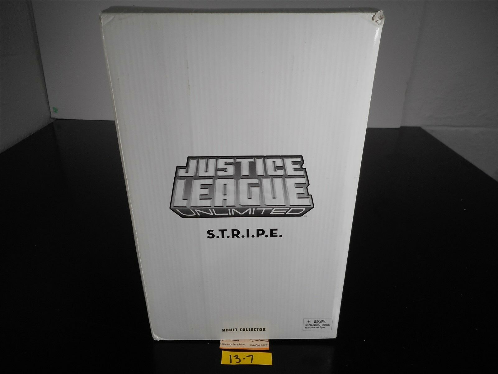 NEW SEALED JUSTICE LEAGUE UNLIMITED S.T.R.I.P.E WHITE CARTON ADULT COLLECTOR 137
