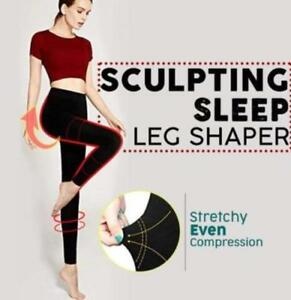 df5c2d3b53a4ef Image is loading Sculpting-Sleep-Leg-Shaper-High-Waist-Tummy-Control-